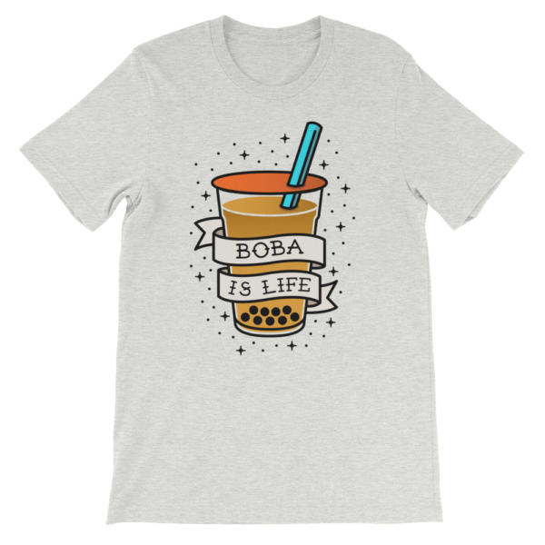 boba shirt boba is life traditional tattoo style ladies short sleeve t shirt 5b764ca7
