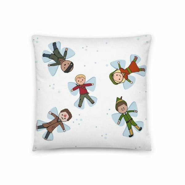 classic christmas movie snow angels pillow 5df6d158