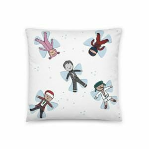 classic christmas movie snow angels pillow 5df6d15a